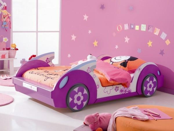 kinderbetten designs mädchenzimmer pink und lila