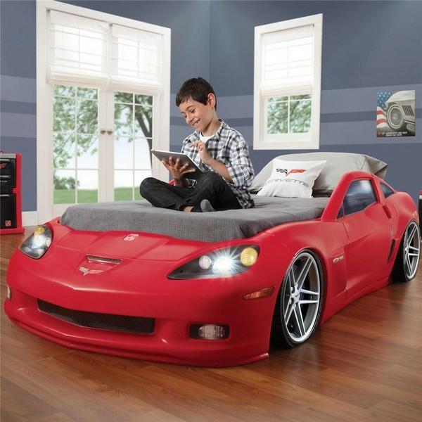 kinderbetten designs rotes auto corvette