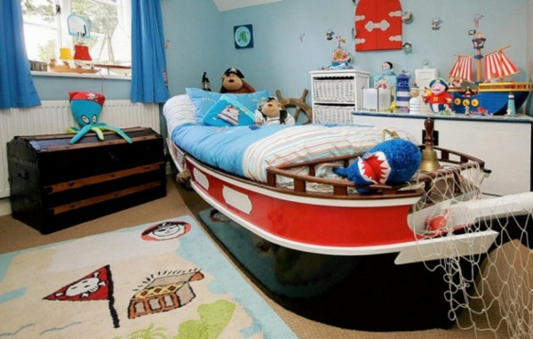 kinderbetten tolle designs tolles schiff piraten motive