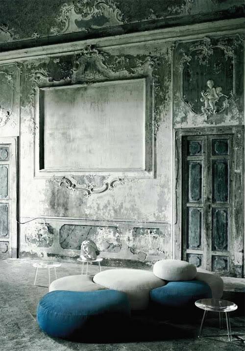klassisch grunge einrichtung kombiniert sofas sessel bequem design