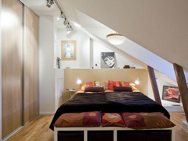 kleine schlafzimmer kreativ gestalten im dachgeschoss
