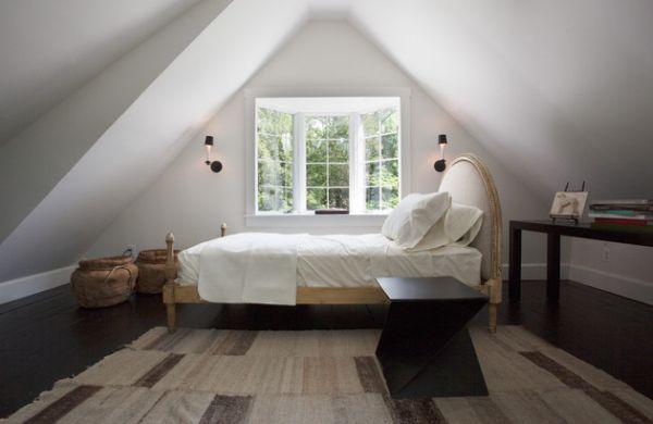 Kleine Schlafzimmer Kreativ Gestalten Jute Aufbewahrungskörbe Wollteppich