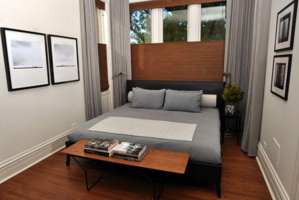 Schmales Schlafzimmer Doppelbett