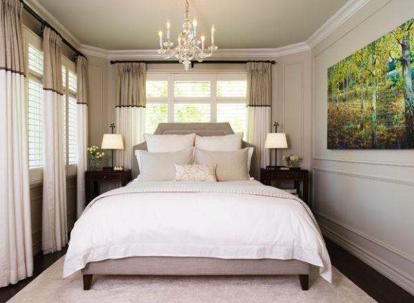 kleine schlafzimmer kreativ gestalten Fototapete mit Waldmotiv und ...