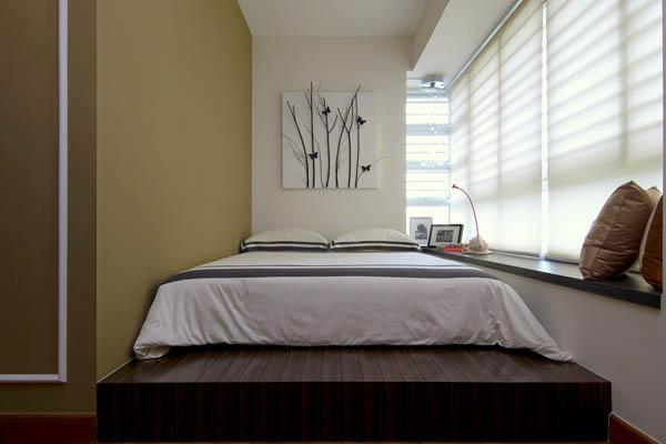 kleine schlafzimmer kreativ gestalten minimalistisch elegant