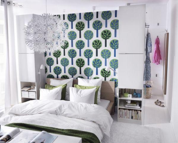 kleine schlafzimmer kreativ gestalten pendellampe schneeflöckchen
