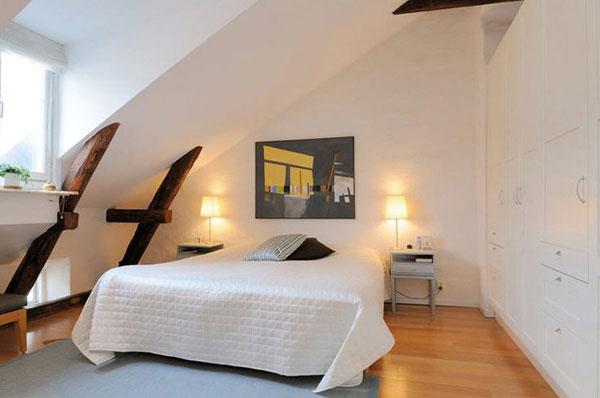 kleine schlafzimmer kreativ gestalten wandkunst dezente tischlampen