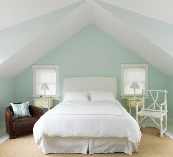 kleine schlafzimmer symmetrisch mit vintage flair