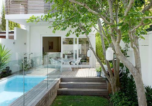Kleine Urbane Garten Designs Holz Bodenbelag Baum Pool  40 Coole Ideen Für  Kleine Urbane Garten Designs | Gartengestaltung ...