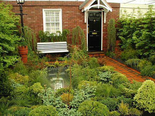 kleine Garten Designs holz bodenbelag sitzbank weiß