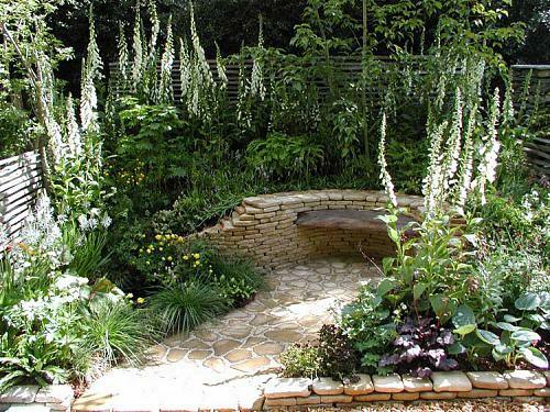 kleine Garten Designs stein fußboden sitzplatz