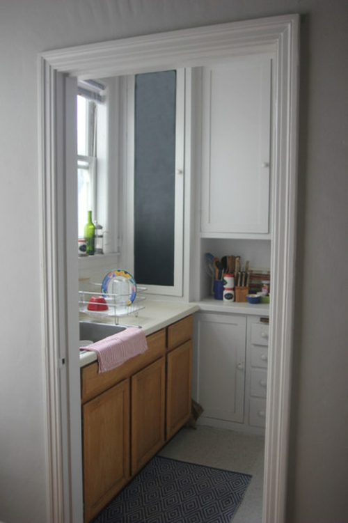 kreative Küchen Designs modern weiß eingebaut küchenmöbel