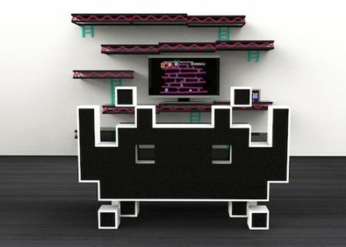 kreative raumgestaltung mit mustern aus videospielen. Black Bedroom Furniture Sets. Home Design Ideas
