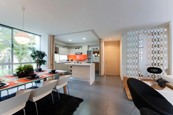 wohnzimmer küche zusammen:Wie nennt man küche und wohnzimmer zusammen : Raumhohes Fenster und