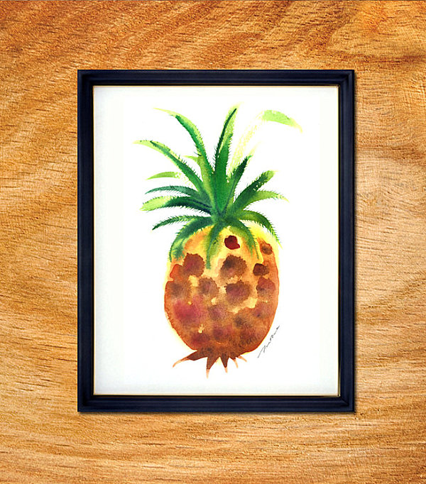 leckere deko ideen ananas in aquarell