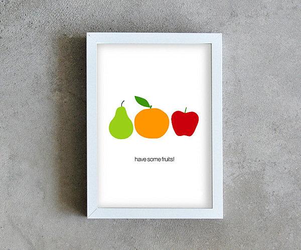 leckere deko ideen stilisierte früchte