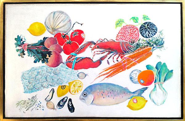 leckere deko ideen wandkunst mit lebensmitteln