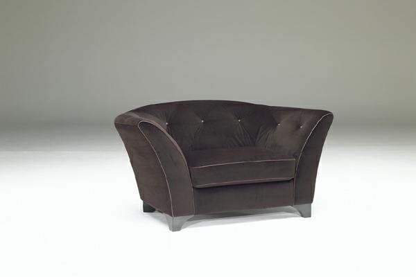 luxus designer sofa in dunkel braun samt