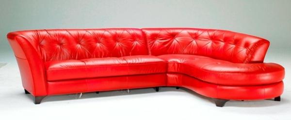 luxus designer sofa in knallrot lack