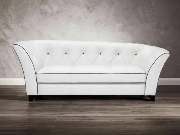 luxus designer sofa in schneeweiß asymmetrisch