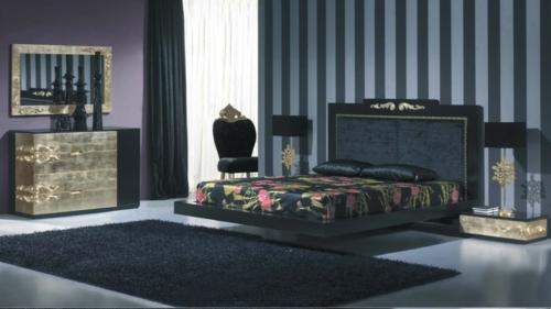 luxus mit blattgold dekoration elegant in dunklen nuancen