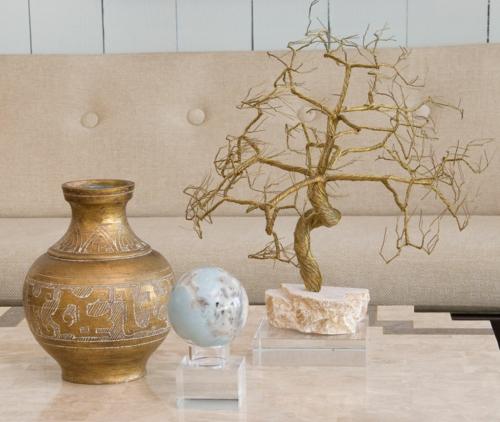 luxus mit blattgold dekoration für kleine gegestände