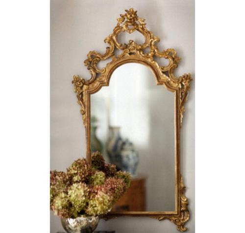 luxus mit blattgold dekoration filigraner spiegelrahmen im barockstil