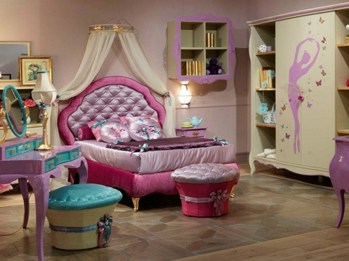 luxus mit blattgold dekoration mädchenzimmer