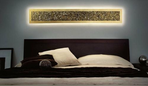 luxus mit blattgold dekoration wandbeleuchtung