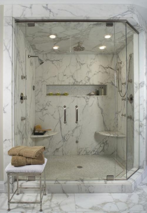 marmor im haus verwenden einbauleuchten glastüre