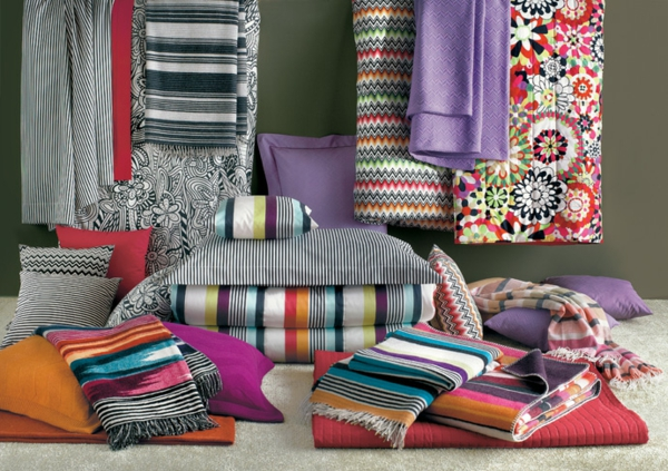 missoni home collection bunte streifen textilien