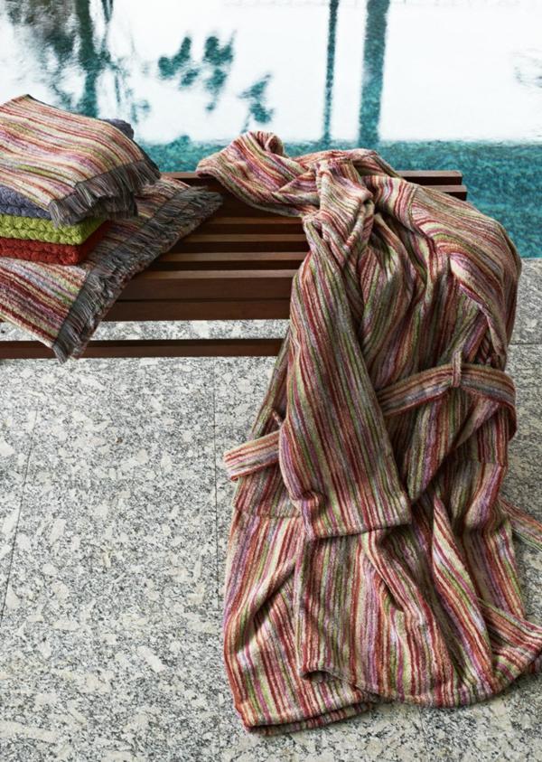 missoni home collection eleganter bademantel