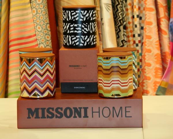 missoni home collectiontoll gemusterte kerzen