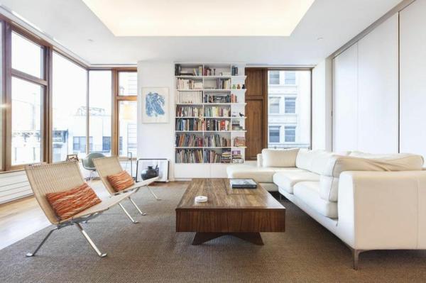 Wohnzimmer New York Style : zeitgenössische Wohnung in SoHo ...