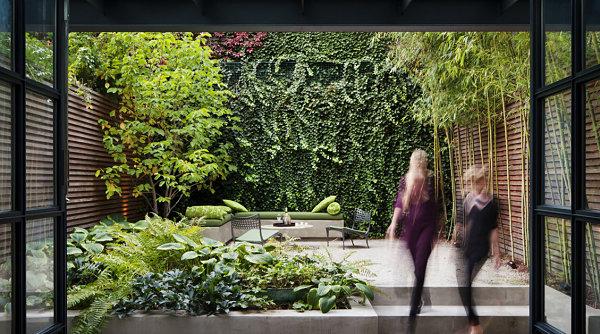 modernes landschaftsbau design eine wilde sitzecke