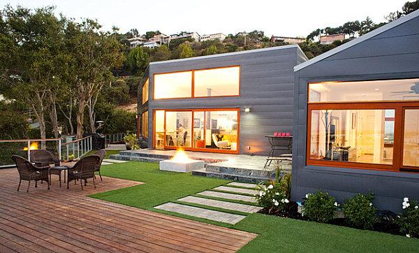 modernes landschaftsbau design stilvoller hinterhof