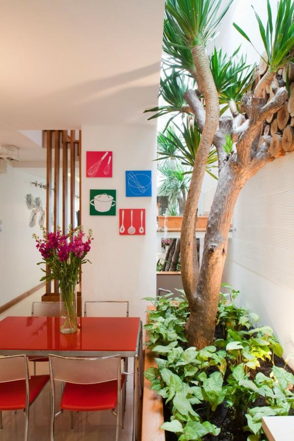 nachhaltiges haus design bunte küchenposter magenta blüten