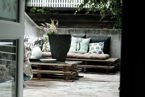 palette möbel holz auflagen sitzecke garten stadt