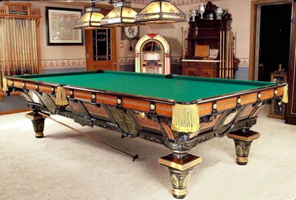 coole wohnzimmertische:Pool Billardtische – 50 super coole Stile und Bilder