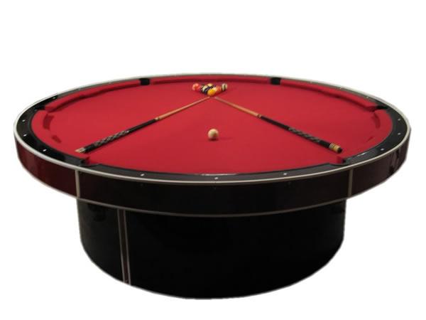 pool billardtische rund in schwarz rot