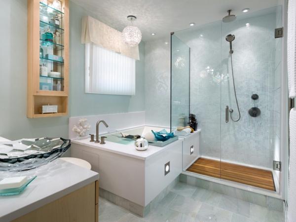 Einrichtungsideen fürs Badezimmer badewanne holz
