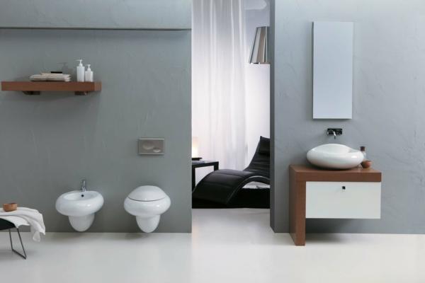 praktische Einrichtungsideen fürs Badezimmer regal wand spiegel