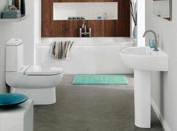 Einrichtungsideen fürs Badezimmer wc grün matte