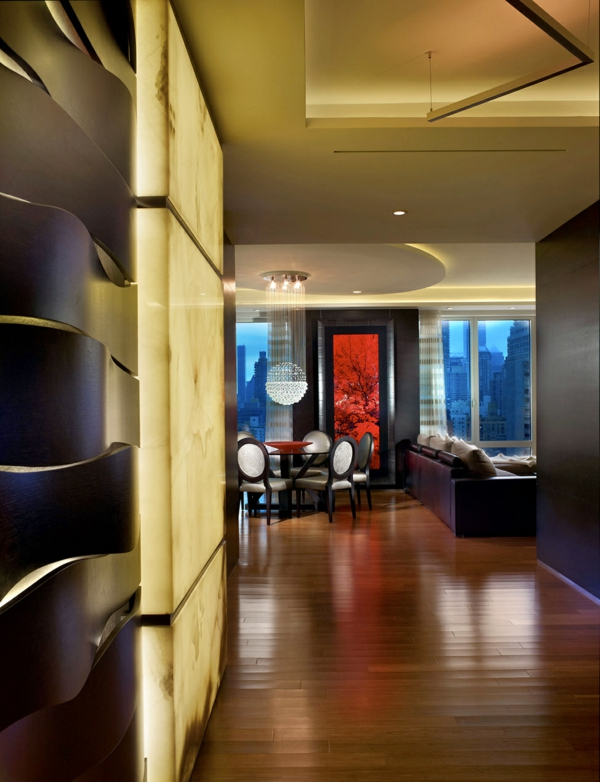 raffinierte penthouse wohnung von pepe calderin design in nyc