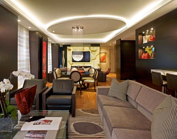 raffinierte penthouse wohnung flüssiges design