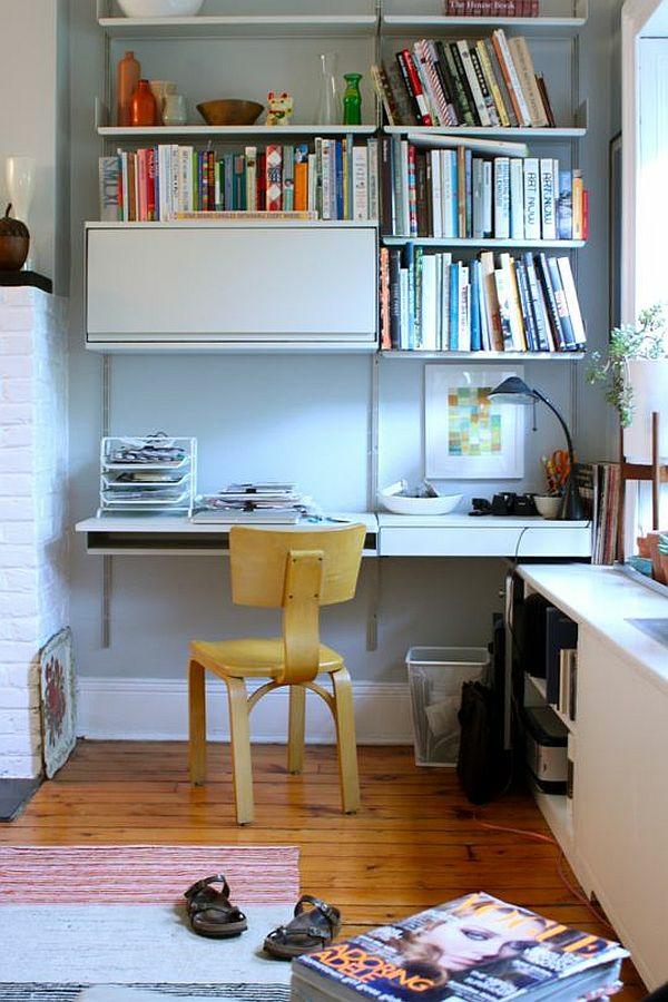 Regale und schreibtisch richtig kombinieren und mehr platz for Schreibtisch holz klein