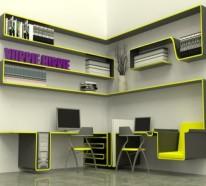 Sparen Sie Platz – wie Sie Regale und Schreibtisch richtig kombinieren