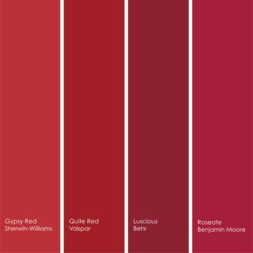 rote Farbe in der Küche nuancen farbpalette schema