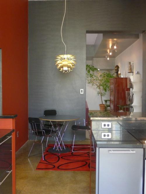 rote Farbe in der Küche nuancen pendelleuchten essecke runde tischplatte