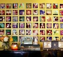 Die Wände zu Hause dekorieren – schöne Ausstellung mit Familienfotos